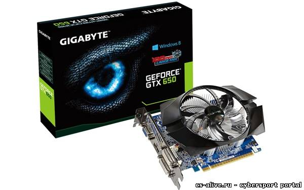 Gigabyte выпустила видеокарту GeForce GTX 650